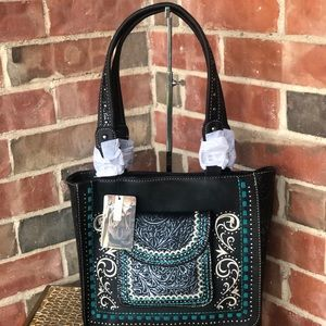 Montana West Embossed Collection Tote Bag